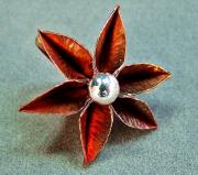 Silver Jewelry - Poinsettia Flower  by Stan Mowatt