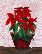 Poinsettias Paintings - Poinsettias by Barbara Griffin