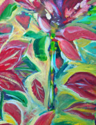 Poinsettias Paintings - Poinsettias by Patricia Taylor