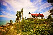 Lighthouse Digital Art Originals - Point Betsie Lighthouse by Paul Bartoszek
