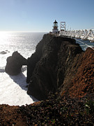 Bonita Point Acrylic Prints - Point Bonita Lighthouse in The Marin Headlands - 5D19675 Acrylic Print by Wingsdomain Art and Photography
