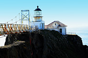 Bonita Point Acrylic Prints - Point Bonita Lighthouse in the Marin Headlands Acrylic Print by Wingsdomain Art and Photography