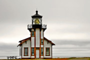 Gloomy Framed Prints - Point Cabrillo Lighthouse California Framed Print by Christine Till