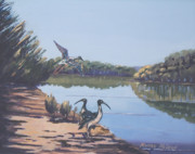 Murray Mcleod Painting Metal Prints - Point Clare Reflections 1 Metal Print by Murray McLeod