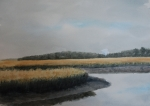 Marsh Scene Paintings - Point Comfort by Stanton Allaben