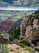 North Rim Posters - Point Imperial cliffs Grand Canyon Poster by Gary Eason