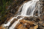 Water Flowing Prints - Point Lace Falls 1 Print by Larry Ricker