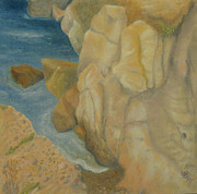 Earth Tones Pastels Metal Prints - Point Lobos 3 Metal Print by Marcia  Perry