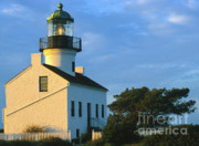 Architectural Detail Prints - Point Loma Lighthouse Print by Sandra Bronstein