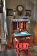 Keepers House Photos - Point Loma Lighthouse Writing Desk by Bob Christopher
