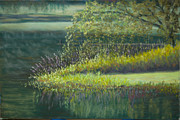 Morning Pastels Originals - Point of Morning Light by James Geddes