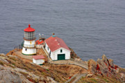 Lightstation Metal Prints - Point Reyes Lighthouse CA Metal Print by Christine Till