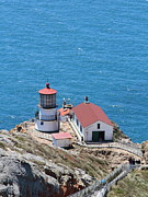 Bayarea Metal Prints - Point Reyes Lighthouse in California 7D15975 Metal Print by Wingsdomain Art and Photography