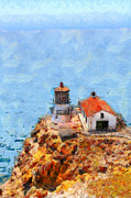 Lighthouse Digital Art - Point Reyes Lighthouse in California . 7D15989 by Wingsdomain Art and Photography