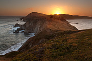 Rocky Coast Photos - Point Reyes Sunset by Matt Tilghman