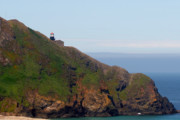 Ocean Panorama Originals - Point Sur Lighthouse CA  by Christine Till