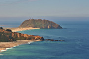 Panoramic Ocean Originals - Point Sur Lighthouse on Central Californias coast - Big Sur California by Christine Till