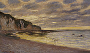 Low Tide Paintings - Pointe De Lailly by Claude Monet