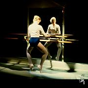 Ballet Art Art - Pointe Work At The Barre by Dan Daulby