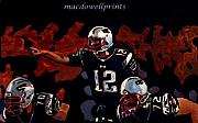 Patriots Painting Originals - Pointed Brady by Donald M Foley