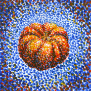 Nature Study Paintings - Pointillism Pumpkin by Samantha Geernaert