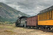 Narrow Gauge Steam Engine Prints - Pointing towards Silverton Print by Ken Smith