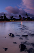 Poipu Prints - Poipu Evening Storm Print by Mike  Dawson