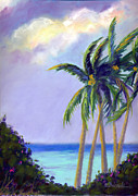 Palm Trees Fronds Originals - Poipu Palms by Janet Biondi