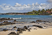 Tropical Waters Metal Prints - Poipu Shores Metal Print by Kelley King