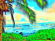 Haleiwa Paintings - Poipu Sunrise by Dominic Piperata