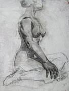 Pensive Drawings Originals - Poise by Julianna Ziegler