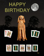 Games Mixed Media Prints - Poker Happy birthday Scream Print by Eric Kempson
