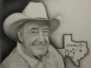 Spades Drawings Posters - Poker LEGEND Poster by Brian Schuster