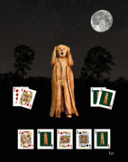 Games Mixed Media Prints - Poker Scream Print by Eric Kempson