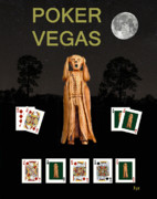 Games Mixed Media Prints - Poker Vegas Scream Print by Eric Kempson