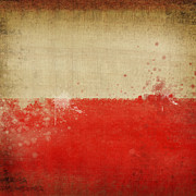 Weathered Prints - Poland flag  Print by Setsiri Silapasuwanchai