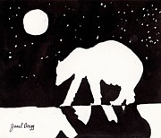 Janel Bragg - Polar Bear at Night on...