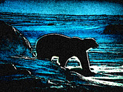 Artprint Painting Prints - Polar Bear Home Print by Colette V Hera  Guggenheim