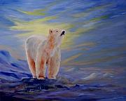 Survival Acrylic Prints - Polar Bear Acrylic Print by Joanne Smoley