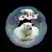 Bears Digital Art - Polar Bears by Julie  Grace