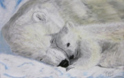 Arctic Pastels - Polar Bears by Maris Sherwood