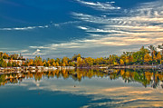 Saint Charles Digital Art - Polarizing Autumn Lake by Bill Tiepelman
