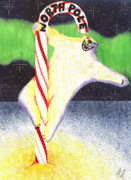 North Pole Paintings - Pole Dancing by Catherine G McElroy