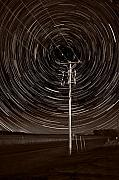 Trails Photo Posters - Pole Star Poster by Steve Gadomski