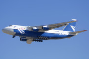 Antonov Framed Prints - Polet Antonov An-124 RA-82080 Landing Phoenix-Mesa Gateway Airport January 14  Framed Print by Brian Lockett