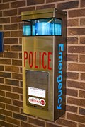 Police Stop Framed Prints - Police Emergency Telephone In Illinois Framed Print by Mark Williamson