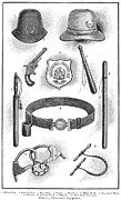 Handcuff Prints - Police Equipment, 1885 Print by Granger