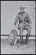 Pet And Owner Framed Prints - Policeman And His Dog Walking, 1950s Framed Print by Archive Holdings Inc.