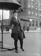 Uniforms Art - Policewoman Directing Traffic by Everett
