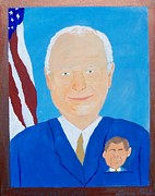 Dick Cheney Prints - Polictical Pocket Pool Print by Denny Pinkham